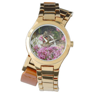 Señora pintada Butterfly Relojes