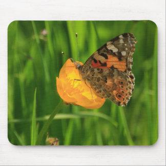 Señora pintada Butterfly Tapete De Ratones