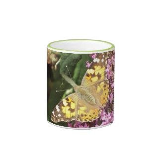 Señora pintada Butterfly Taza A Dos Colores