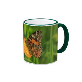 Señora pintada Butterfly Taza De Café