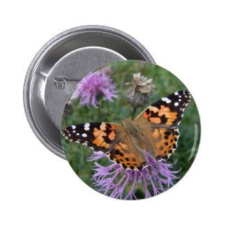 Señora pintada Button Pin Redondo De 2 Pulgadas