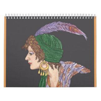 Señora pintada Calendar Calendario