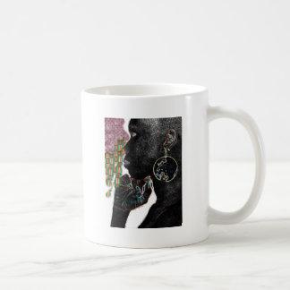 Señora pintada Cup Taza De Café