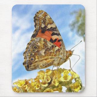 Señora pintada mariposa tapetes de raton