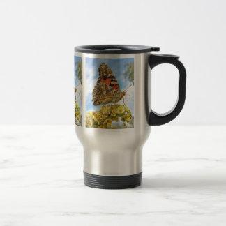 Señora pintada mariposa tazas