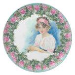 Señora Plate del Victorian de los rosas de Catheri Platos De Comidas