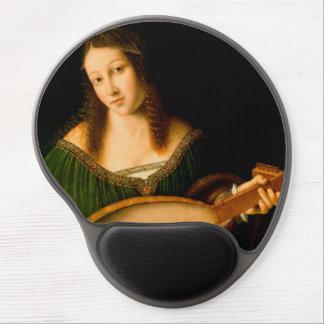 Señora Playing un gel Mousepad de la pintura de la Alfombrillas De Ratón Con Gel