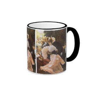 Señora política de James Tissot, Victorian del Taza A Dos Colores