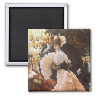 Señora política de James Tissot Victorian del vin Imanes De Nevera
