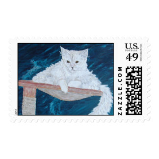 Señora polvorienta sello postal