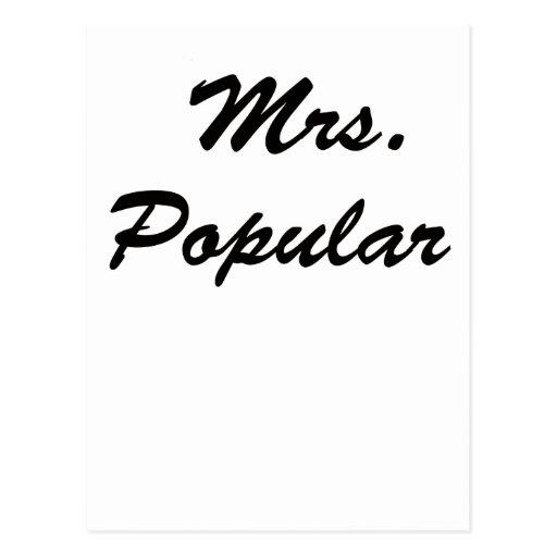 Señora Popular Tarjeta Postal