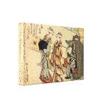 Señora por Hokusai Impresiones De Lienzo