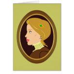 Señora Portrait del Victorian Felicitacion