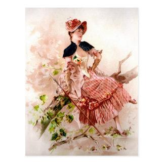 Señora Portrait Postcard del vintage Postal