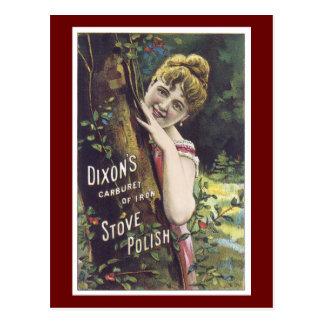 Señora Postcard del Victorian del polaco de la Tarjeta Postal