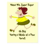 Señora Postcard Template del dibujo animado Tarjeta Postal