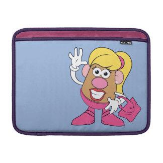 Señora Potato Head Waving Funda MacBook