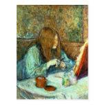Señora Poupoule en su retrete, 1898 Tarjeta Postal