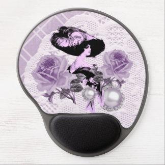 Señora preciosa Vintage Lace Gel Mousepad de la Alfombrilla Gel