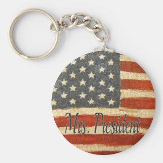 Señora presidente 2016 de Hillary Llavero Redondo Tipo Pin