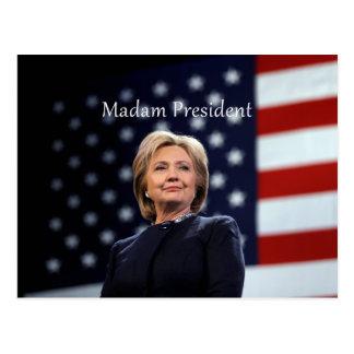 Señora presidente estilo 1 tarjeta postal