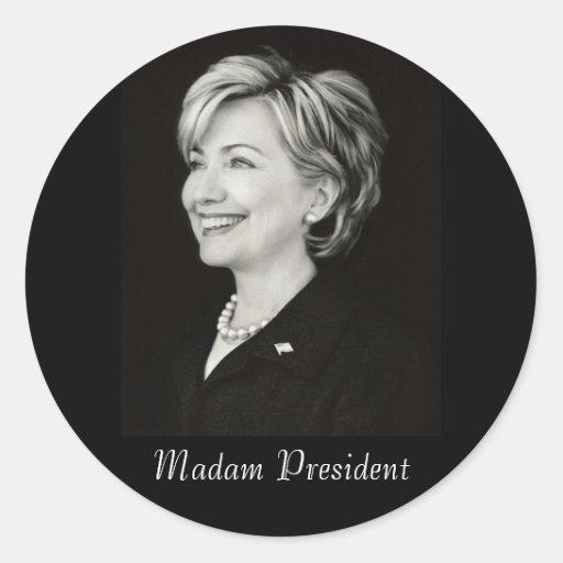 Señora presidente pegatina de Hillary