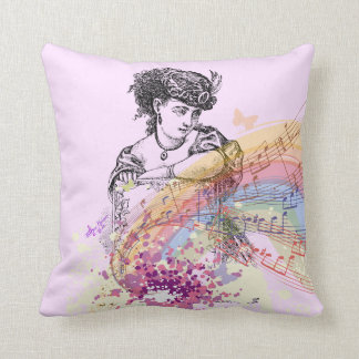 Señora PrettyPink ColorSplash Pillow del Victorian Almohadas
