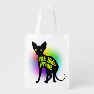Señora Pride del gato Bolsas Reutilizables