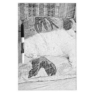 Señora princesa Kittie Lounging Sketch Tableros Blancos