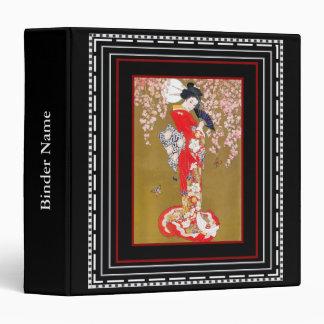 """Señora Print de Nouveau Deco del arte del vintage  Carpeta 1 1/2"""""""