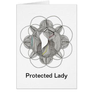 Señora protegida tarjeta pequeña