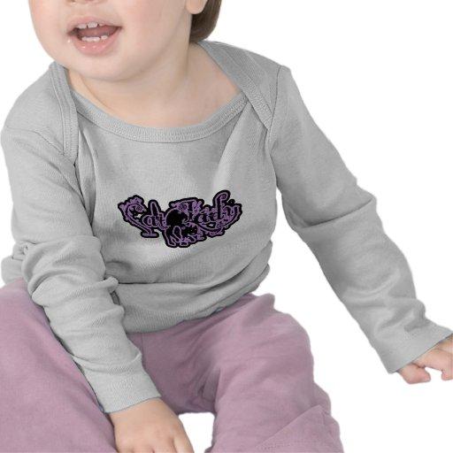 Señora Purple del gato Camiseta