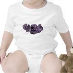Señora Purple del gato Trajes De Bebé