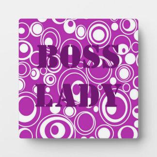 Señora Purple Pattern Plaque de Boss Placas Con Foto