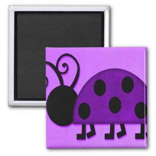 Señora púrpura Bug Iman De Frigorífico
