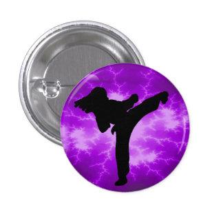 Señora púrpura Button del relámpago Pin Redondo De 1 Pulgada