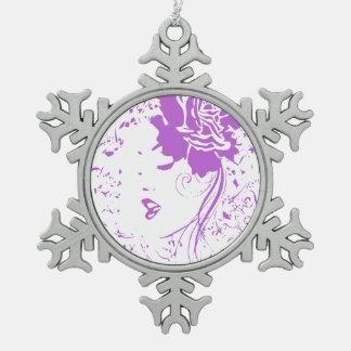 Señora púrpura del dolor crónico
