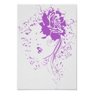 Señora púrpura del dolor crónico póster