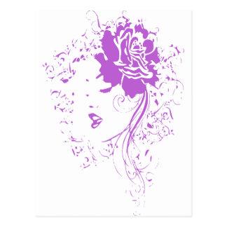 Señora púrpura del dolor crónico postal