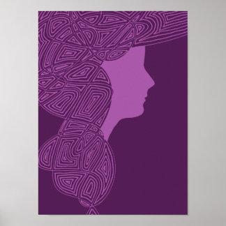 Señora púrpura póster