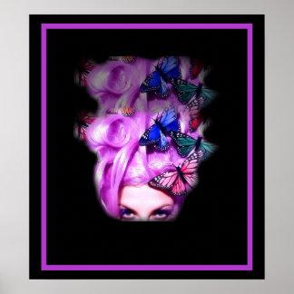 Señora púrpura Poster impresión 2 de la mariposa d