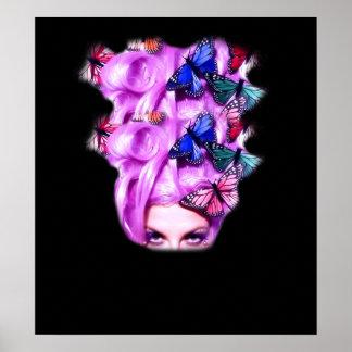 Señora púrpura Poster/impresión 5 de la mariposa d Póster