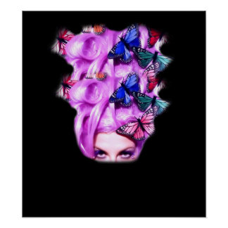 Señora púrpura Poster/impresión 5 de la mariposa Póster