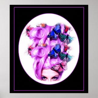 Señora púrpura Poster impresión 6 de la mariposa d