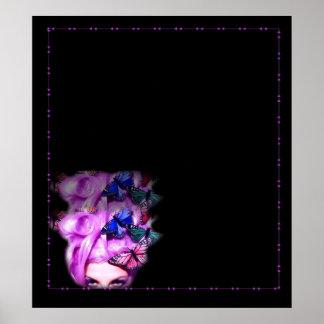 Señora púrpura Poster impresión de la mariposa del