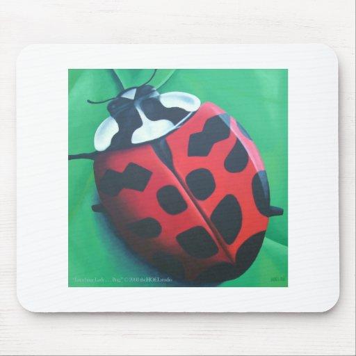 Señora que almuerza… insecto Mousepad