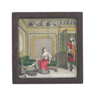 Señora que desnuda para el baño, c.1688-90 publica cajas de joyas de calidad