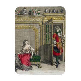 Señora que desnuda para el baño, c.1688-90 publica imanes