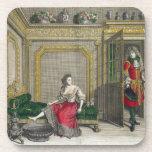 Señora que desnuda para el baño, c.1688-90 publica posavasos de bebida