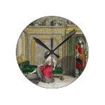 Señora que desnuda para el baño, c.1688-90 publica reloj redondo mediano